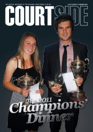 THE OFFICIAL MAGAZINE OF THE KOOYONG LAWN TENNIS ...