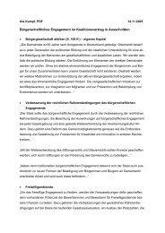 Bürgerschaftliches Engagement im Koalitionsvertrag in Ausschnitten