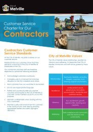 Customer Service Charter for Contractors.pdf - City of Melville