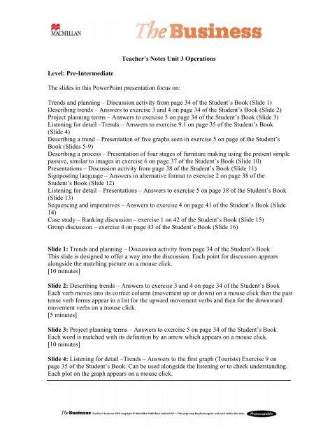 Teacher's notes PDF