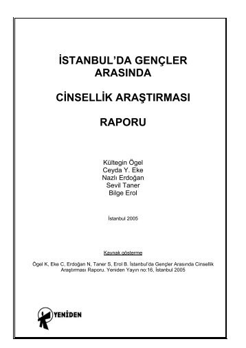 İstanbul'da Gençler Arasında Cinsellik Araştırması ... - Kültegin Ögel