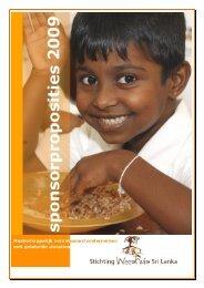 Sponsorproposities - Stichting Weeshuis Sri Lanka