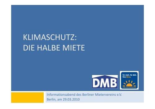 Das eigene Verhalten anpassen - Deutscher Mieterbund