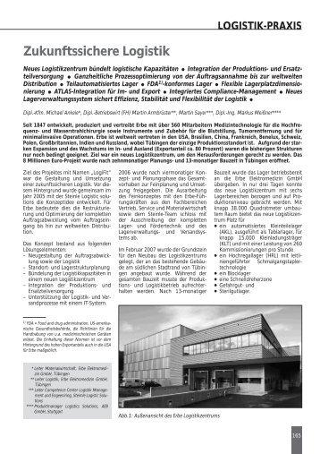 Zukunftssichere Logistik - AEB GmbH