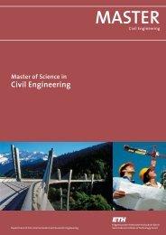 MASTER - Bauingenieurwissenschaften - ETH Zürich