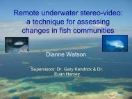 a technique for assessing changes in fish communities - OzCoasts