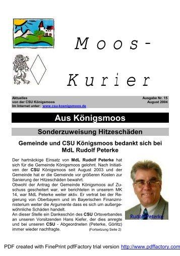 Mooskuriers (Nr. 15) - CSU Königsmoos