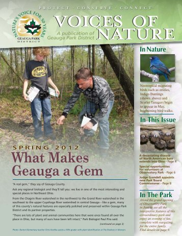 What Makes Geauga a Gem - Geauga Park District
