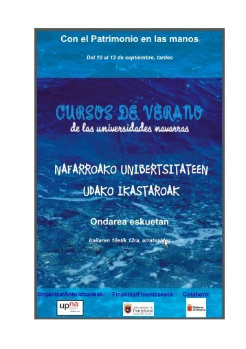 Con el Patrimonio en las manos - Universidad Pública de Navarra