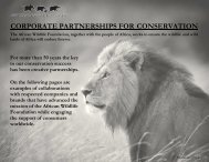 corporate partnerships for conservation - The UK Sponsorship ...