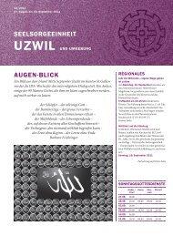 seelsorgeeinheit AUgen-Blick - Seelsorgeeinheit Uzwil