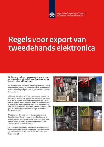 Regels voor export van tweedehands elektronica - Inspectie ...