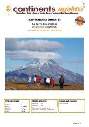KAMTCHATKA (RUSSIE) - Continents Insolites