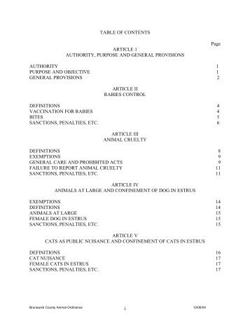 i TABLE OF CONTENTS Page ARTICLE 1 ... - Brunswick County
