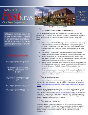 April 12, 2013 - City of Auburn