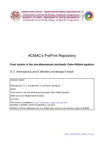 Download (452Kb) - ACMAC's PrePrint Repository