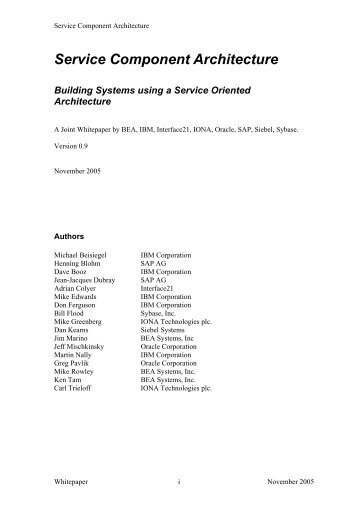 Building Systems using a Service Oriented Architecture - Sybase
