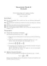 Theoretische Physik II Mechanik - Uni Rostock