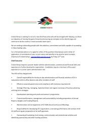 Cricket Kenya is seeking to recruit a new Chief Executive who will ...