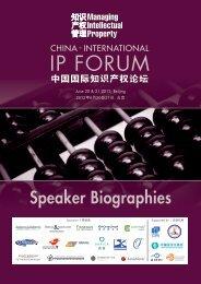 IP FORUM - Managing Intellectual Property