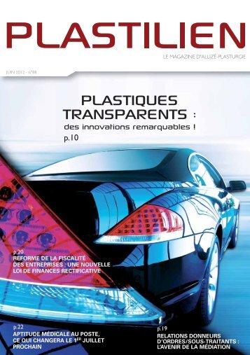 PLASTIQUES TRANSPARENTS : - Allize-Plasturgie