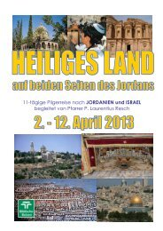 11-tägige Pilgerreise nach JORDANIEN und ISRAEL begleitet von ...