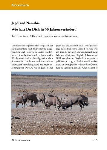Jagdland Namibia: Wie hast Du Dich in 50 Jahren verändert!