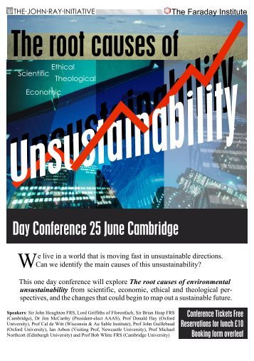 conference flyer - The John Ray Initiative