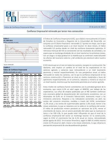 Mayo 2013 - Facultad de Economía y Negocios UDD - Universidad ...