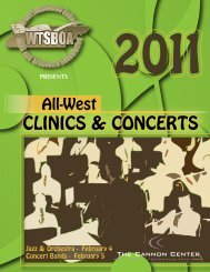 February 4 Concert Bands - West Tennessee School Band and ...