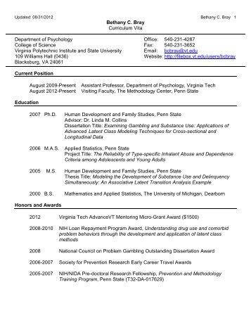 Curriculum Vitae - Dr. Barry Goodell - Virginia Tech