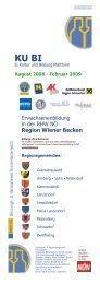 Erwachsenenbildung in der BHW NÖ Region Wiener Becken