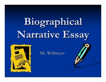 Biographical Narrative Essay - Rowland High School