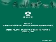 Review of Urban Land Institute - Rose Fellowship Recommendations