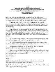 Vertrag zwischen dem Land Mecklenburg-Vorpommern und der ...