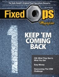 April 2009 - Fixed Ops