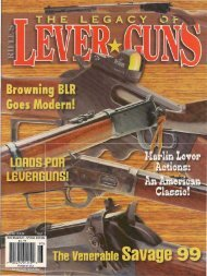 LEVER ACTIONS IN TWENTy-FIRST CENTURY ALASKA