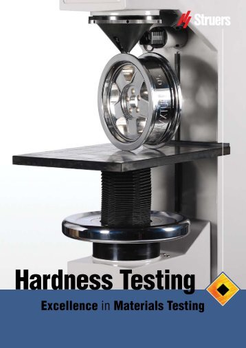 Hardness Testing - Products 4 Engineers