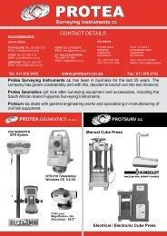 protea geomatics pty (ltd) - Survey Instruments