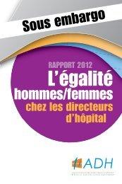 (ADH) sur l'égalité hommes-femmes - Emploipublic.fr