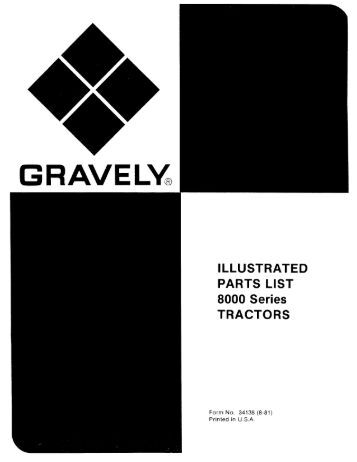 8000 Series Tractors Illustrated Parts List - Gravely Tractor Club