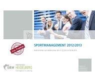 Jahresbericht Sportmanagement 2012/2013 - SRH Hochschule ...