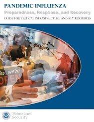 Pandemic Influenza Preparedness, Response and ... - Flu.gov