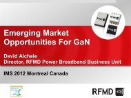 Emerging Market Opportunities For GaN - RF Micro Devices