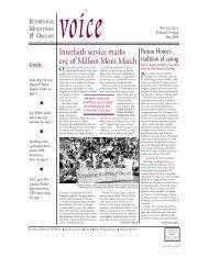 Interfaith service marks eve of Million Mom March - Ecumenical ...