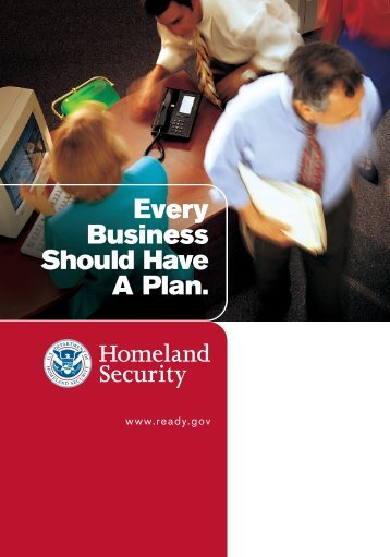 Every Business Should Have A Plan - Brochure from U.S. ...