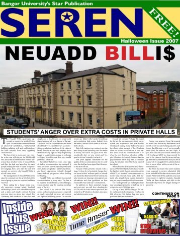 Inside This Issue - Seren - Bangor University