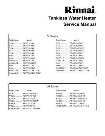 rinnai water heater installation instructions
