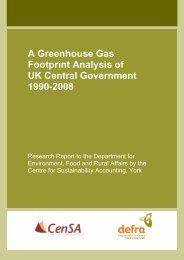 A Greenhouse Gas Footprint Analysis of UK Central Government ...