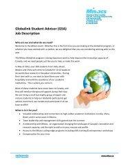 Globalink Student Advisor (GSA) Job Description - Mitacs